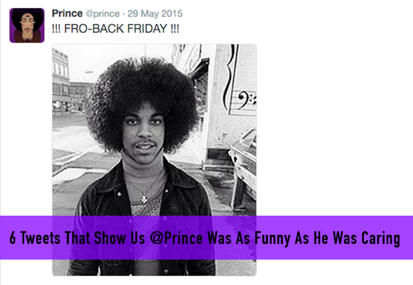 6 Tweets That Show US @Prince Was As Funny As He Was Caring