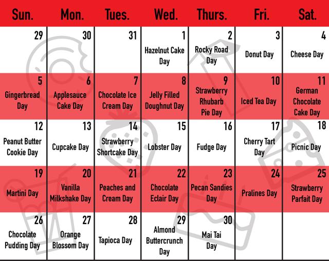 June Food Holiday Calendar